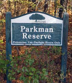 Parkman Reserve Sign